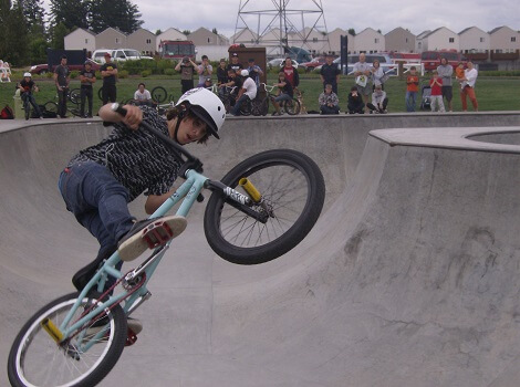 Extreme sports area at Pacific Community Park.